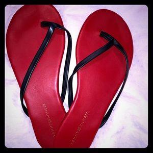 Red & Blue Tommmy Hilfiger flip flops. ❤️💙🇺🇸